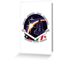 STS-100 Mission Patch Greeting Card
