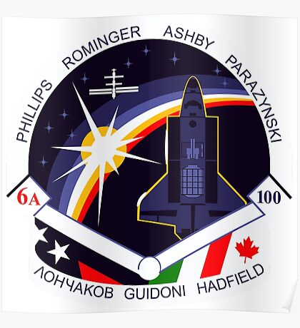 STS-100 Mission Patch Poster