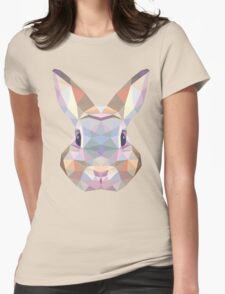 Polygonal Rabbit Womens Fitted T-Shirt