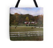 New England Horse Farm Tote Bag