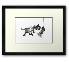 Cat'shing  Framed Print