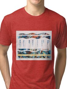 Layers - Beneath the surface (No.2 of 4) Tri-blend T-Shirt