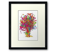 Psychedelic Fountain of Color Framed Print