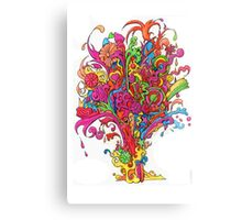 Psychedelic Fountain of Color Canvas Print