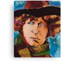 Pouty Fourth Doctor  Canvas Print