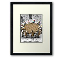King Arthur and the Knights of the Round Table Framed Print