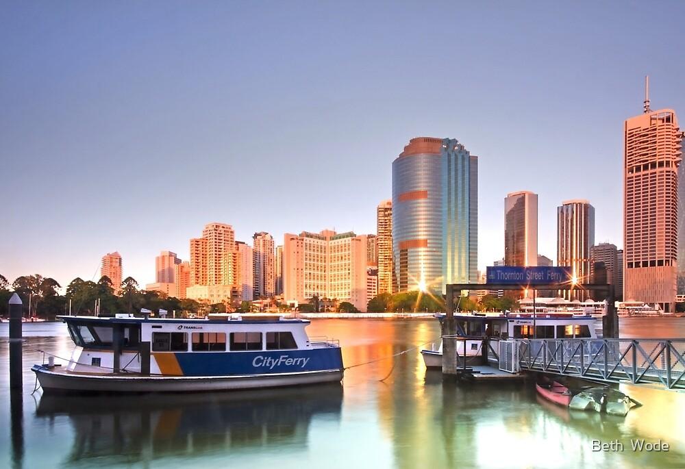 Before Brisbane Wakes - Brisbane Qld Australia by Beth  Wode