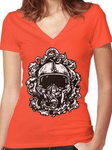Tentakelhelm Women's Fitted V-Neck T-Shirt