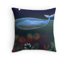 underwater bedroom Throw Pillow