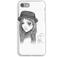 Girl with the Eye Tattoo iPhone Case/Skin
