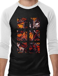 Fragmented Monarchy in Sharpie Men's Baseball ¾ T-Shirt