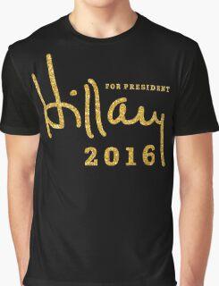 Black Hillary Clinton Shirts 2016 Gold Sequins Graphic T-Shirt