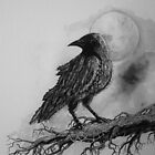 The Crow Against the Moon by Mandolin-Crow