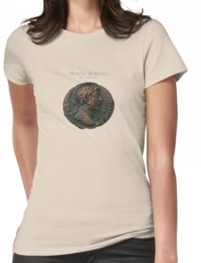 Ancient Roman Coin - MARCUS AURELIUS Womens Fitted T-Shirt