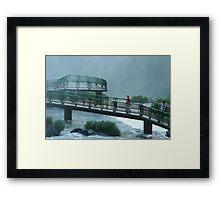 Walkway Iguasso Falls, Brazil Framed Print