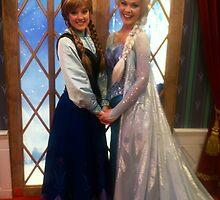 Anna & Elsa from Frozen by AngelaHRey