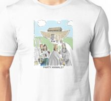 Party Animals trying to get on Noah's ark Unisex T-Shirt