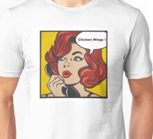 Pop Art Chicken Wings Unisex T-Shirt