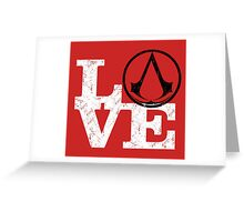 Love Assassin's Creed Greeting Card