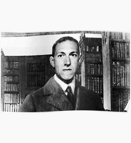 H.P. Lovecraft photographic portrait Poster