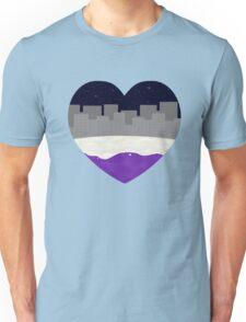 Ace pride heart (city) Unisex T-Shirt