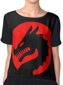 Red Luck Dragon Design, Luck Dragon Gifts Logo Design Chiffon Top