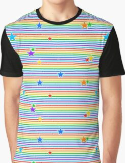 Colourful stars and stripes Graphic T-Shirt