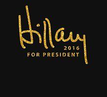 Black Hillary Clinton Shirts Gold Unisex T-Shirt