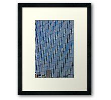 Blue Glass Facade Framed Print