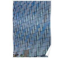 Blue Glass Facade Poster