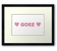 Gore 8 Framed Print