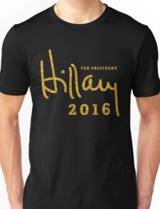 Black Hillary Clinton Shirts 2016 Gold Sequins Unisex T-Shirt
