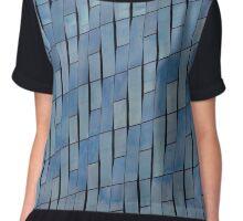 Blue Glass Facade Chiffon Top