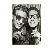Buddy Holly and Waylon Jennings Art Print