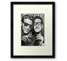 Buddy Holly and Waylon Jennings Framed Print