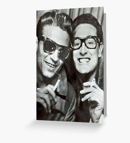 Buddy Holly and Waylon Jennings Greeting Card
