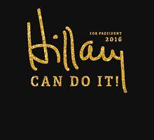 Black Hillary Can Do It 2016 Shirts Gold Unisex T-Shirt