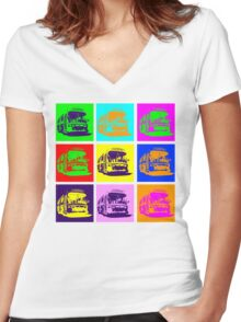 Bus to Nowhere Women's Fitted V-Neck T-Shirt