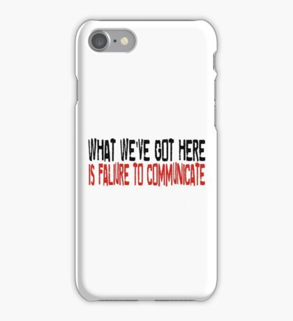 Cool Hand Luke Movie Quotes Paul Newman Inspirational Quotes iPhone Case/Skin