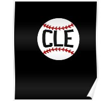 CLE Baseball Cleveland T Shirt Tribe Indians Poster