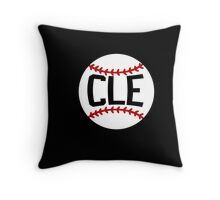 CLE Baseball Cleveland T Shirt Tribe Indians Throw Pillow