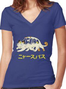 Nyasu Basu Women's Fitted V-Neck T-Shirt