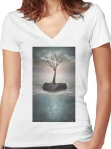 The Roots Below the Earth Women's Fitted V-Neck T-Shirt