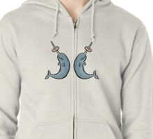 narwhales and donuts Zipped Hoodie