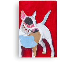 Red the English Bull Terrier Canvas Print