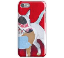 Red the English Bull Terrier iPhone Case/Skin