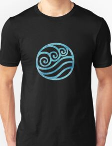 Water Tribe Watercolor Symbol (on black) Unisex T-Shirt