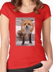 Goofy Fox Women's Fitted Scoop T-Shirt