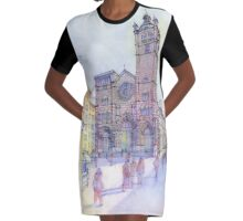S. Lorenzo a Genova Graphic T-Shirt Dress