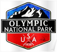 OLYMPIC NATIONAL PARK WASHINGTON 1938 HIKING CAMPING CLIMBING MOUNTAINS Poster